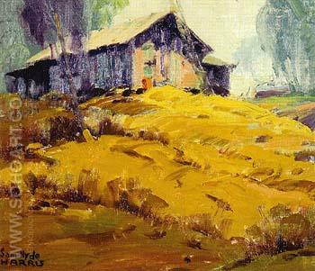 Shack on Hill 1920 - Sam Hyde Harris reproduction oil painting