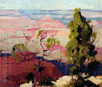 Canyon Edge - Sam Hyde Harris reproduction oil painting