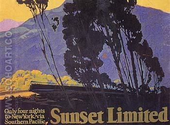 Sunset Limited 1 - Sam Hyde Harris reproduction oil painting