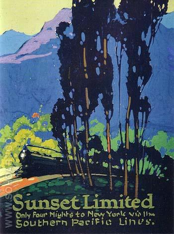 Sunset Limited - Sam Hyde Harris reproduction oil painting