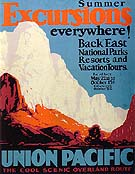 Excursions Union Pacific - Sam Hyde Harris reproduction oil painting