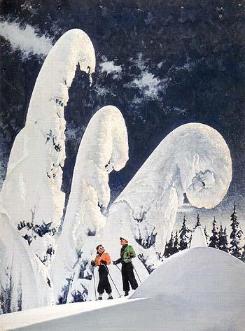 Winter Scene - Sam Hyde Harris reproduction oil painting