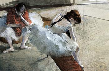 Dancers Resting 2 - Edgar Degas reproduction oil painting