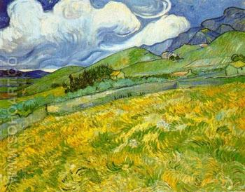 Landscape at St Remy 1889 - Vincent van Gogh reproduction oil painting