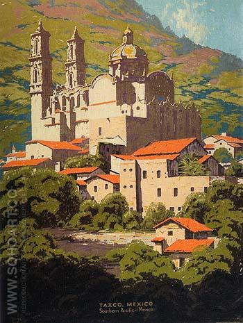 Taxco Mission Mexico - Sam Hyde Harris reproduction oil painting