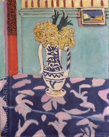 Les Coucous Tapis Bleu en Rose - Henri Matisse reproduction oil painting