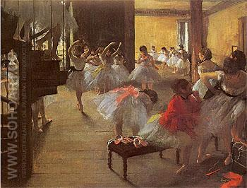 The Dance Class 1873 - Edgar Degas reproduction oil painting