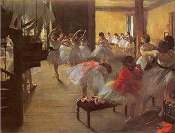 The Dance Class 1873 - Edgar Degas reproduction oil painting