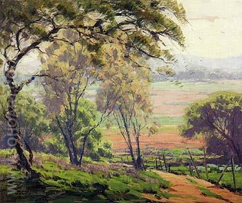 Tree Near a Country Road 1930 - Sam Hyde Harris reproduction oil painting