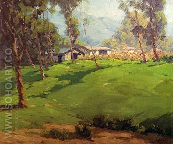 Green Hillside 1929 - Sam Hyde Harris reproduction oil painting