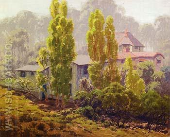 Untitled House and Trees 1925 - Sam Hyde Harris reproduction oil painting
