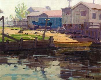 Sunset Beach Lagoon - Sam Hyde Harris reproduction oil painting