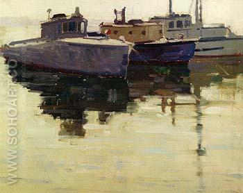 Three Old Boats - Sam Hyde Harris reproduction oil painting