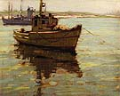 Yellow Boat - Sam Hyde Harris reproduction oil painting