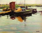 Boast Moored - Sam Hyde Harris reproduction oil painting