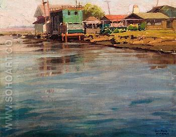 Sunset Beach - Sam Hyde Harris reproduction oil painting