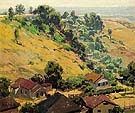 Chavez Ravine California - Sam Hyde Harris reproduction oil painting