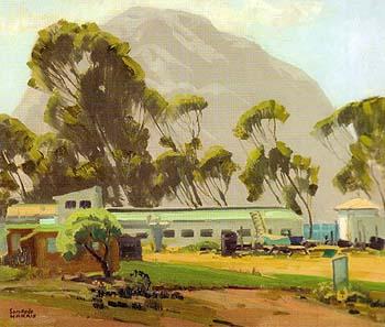 Morro Rock Environment - Sam Hyde Harris reproduction oil painting
