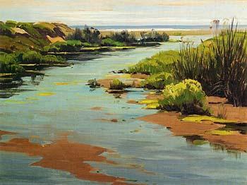 Morro Creek - Sam Hyde Harris reproduction oil painting