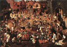 The Fight Between Carnival and Lent 1560 - Bruegel Pieter reproduction oil painting