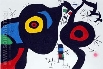Two Friends - Joan Miro reproduction oil painting