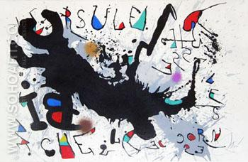 Ursula Raises the Horns of the Deer 1975 - Joan Miro reproduction oil painting