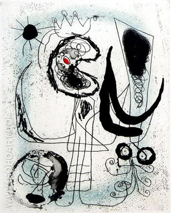 Serie III - Joan Miro reproduction oil painting