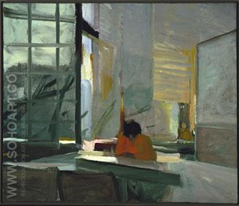Orange Sweater 1955 - Elmer Bischoff reproduction oil painting