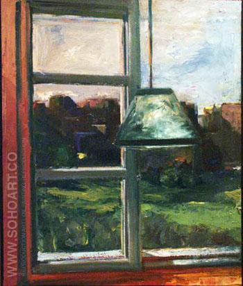 Green Lampshade 1969 - Elmer Bischoff reproduction oil painting