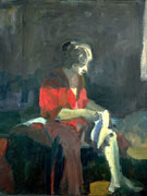 Woman Dressing 1959 - Elmer Bischoff reproduction oil painting