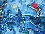 Lovers over Paris - Marc Chagall