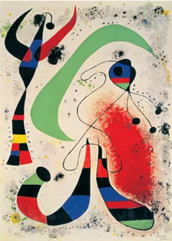 Night - Joan Miro reproduction oil painting