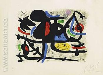 La Luge des Amants II - Joan Miro reproduction oil painting