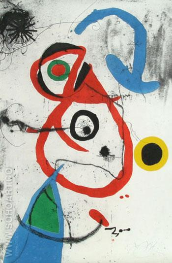 Barcelona Plate 8 - Joan Miro reproduction oil painting