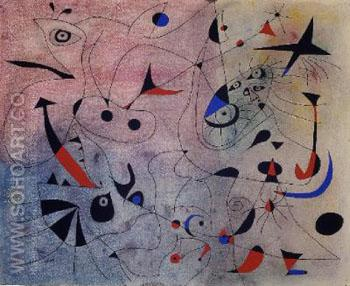 Morning Star - Joan Miro reproduction oil painting