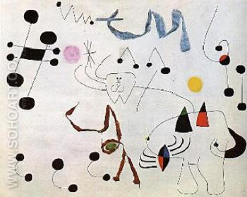 Women Deaming of Escape - Joan Miro reproduction oil painting