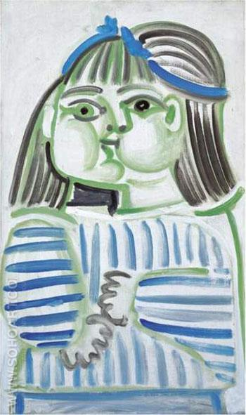 Buste de Jeune Fille Paloma 1951 - Pablo Picasso reproduction oil painting
