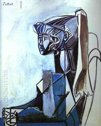 Sylvette 1954 - Pablo Picasso reproduction oil painting