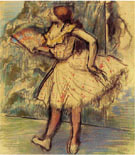 Dancer with Fan - Edgar Degas reproduction oil painting