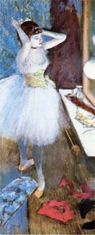 Dancer In her Dressing Room 1879 - Edgar Degas reproduction oil painting