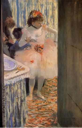 Dancer in Her Dressing Room 2 - Edgar Degas reproduction oil painting