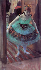 Dancer Leaving Her Dressing Room - Edgar Degas reproduction oil painting