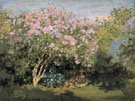 Lilacs in the Sun 1872 - Claude Monet reproduction oil painting