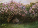 The Lilacs Grey Weather 1972 - Claude Monet reproduction oil painting