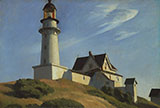 The Lighthouse at Two Lights 1929 - Edward Hopper reproduction oil painting