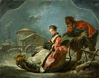 Four Season Winter 1775 - Francois Boucher reproduction oil painting