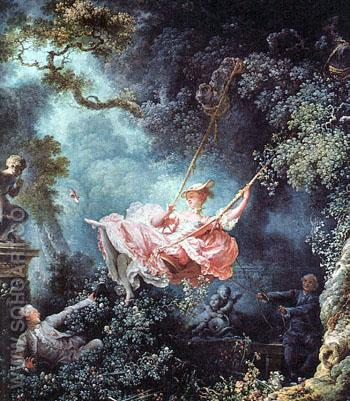 The Swing 1766 - Jean-Honore Fragonard reproduction oil painting