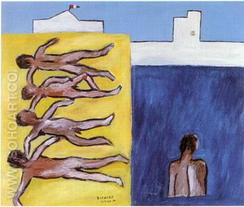 Bathers 1942 - Sidney Nolan reproduction oil painting
