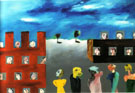 Lublin or Baroque Exterior 1944 - Sidney Nolan reproduction oil painting