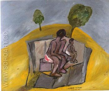 Latrine Sitters 1942 - Sidney Nolan reproduction oil painting